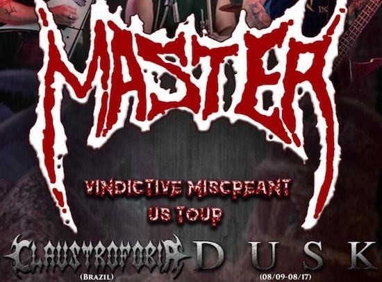 Vindictive Miscreant U.S. Tour with MASTER, CLAUSTROPHOBIA and DUSK