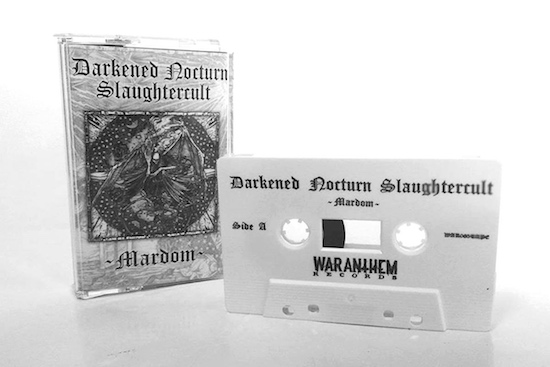 Win limited edition tape of Darkened Nocturn Slaughtercult 'Mardom'