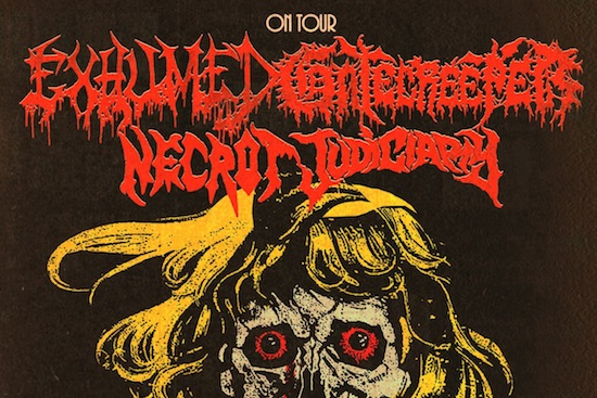 GATECREEPER & EXHUMED announce co-headlining US tour with NECROT and JUDICIARY