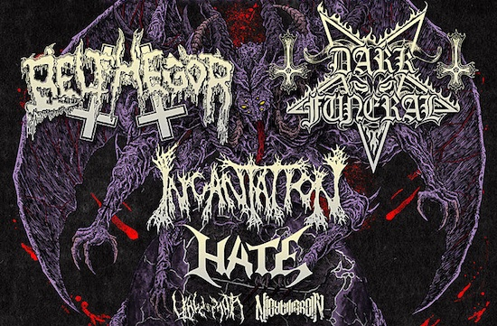 Devastation On The Nation Tour with Belphegor, Dark Funeral and Incantation