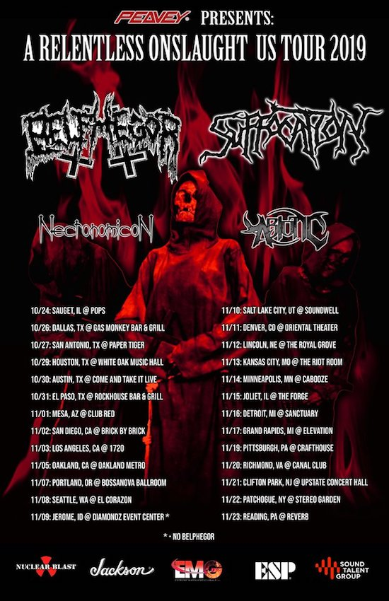 Belphegor Suffocation 2019 Tour