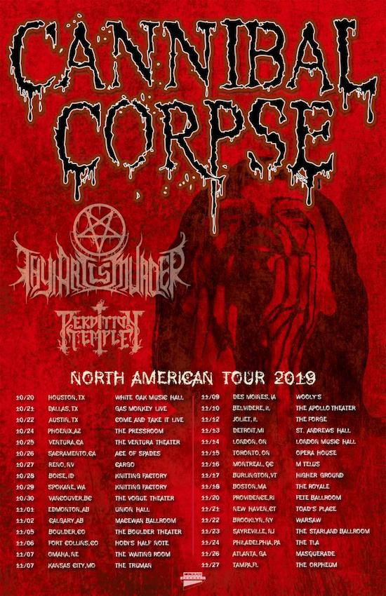 Cannibal Corpse Tour 2019