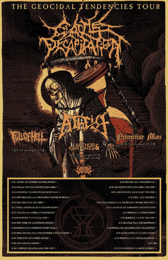Cattle Decapitation 2019 Tour