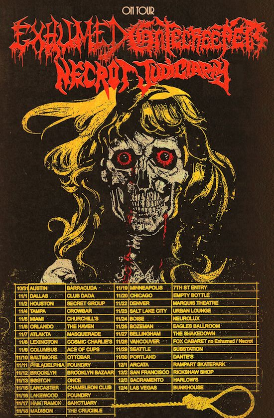 Exhumed Gatecreeper 2019 Tour