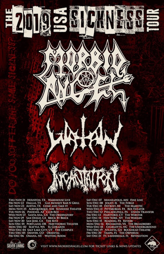 Morbid Angel 2019 Tour